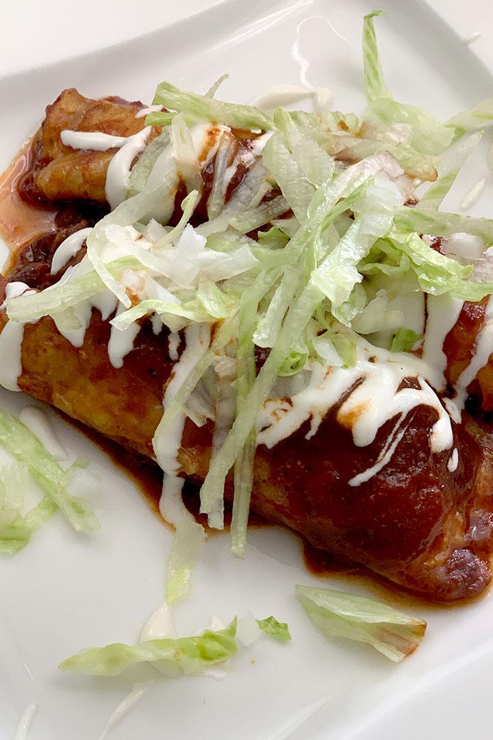Keto Chicken Enchiladas Rojas